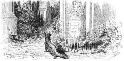 Лисица и Бюст (Г. Доре)