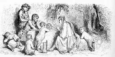 Сатир и Прохожий (Г. Доре)