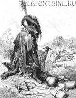 Иллюстрация к басне Волчья хитрость