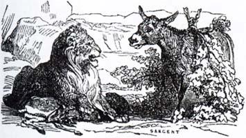 Лев и Осел на охоте (К. Жирарде)