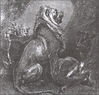 Лев на ловле (Е. Ламберт)