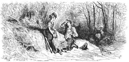 Тирсис и Амаранта (Г. Доре)