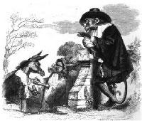 Лев, Обезьяна и два Осла (Гранвиль)