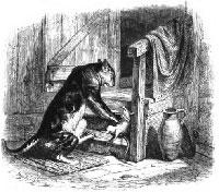 Старый Кот и Мышонок (Гранвиль)