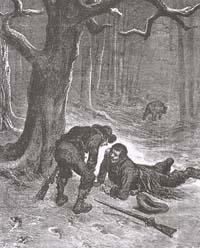 Медведь и два Охотника (Г. Доре)
