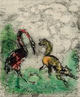 Иллюстрация к басне Лисица и Аист