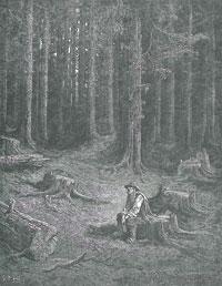 Лес и Дровосек (Г. Доре)