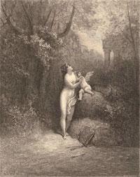 Амур и Безумие (Г. Доре)