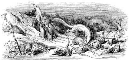Война Крыс и Ласок (Г. Доре)