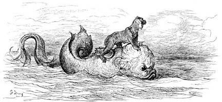 Обезьяна и Дельфин (Г. Доре)