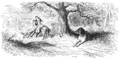 Осел и Собака (Г. Доре)