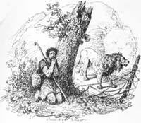 Пастух и Лев (О. Верне)