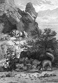 Больной Лев и Лисица (Удри)