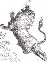 Лев и Комар (Г. Доре)