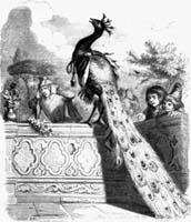 Павлин, жалующийся Юноне (Гранвиль)