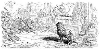 Лев, сраженный Человеком (Г. Доре)