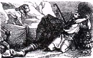 Пастух и Лев (К. Жирарде)