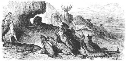 Похороны Львицы (Г. Доре)