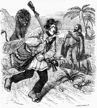 Лев и Охотник (Гранвиль)