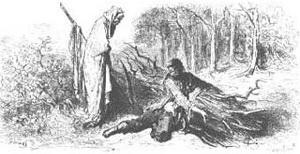 Крестьянин и Смерть (иллюстрация)