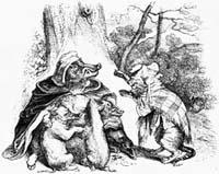 Орел, Дикая Свинья и Кошка (Гранвиль)