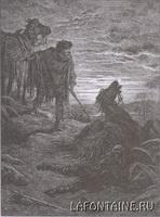 Иллюстрация к басне Два Мула