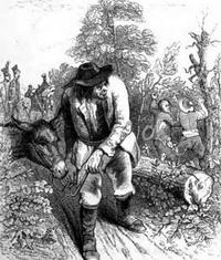 Осел и Воры (Гранвиль. Тур, 1887 г.)