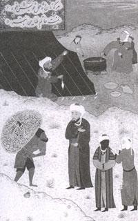 Миниатюра из сборника басен Бидпая