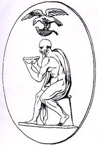 Прорисовка с древнегреческой вазы