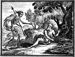 Крестьянин и Смерть (гравюра, XVII в.)
