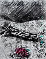 Иллюстрация к басне Дуб и Розовый куст