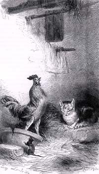 Петух, Кот и Мышонок (Е. Ламберт)