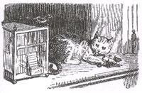 Кот и Воробей (К. Жирарде)