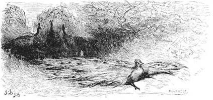 Ворона в павлиньих перьях (Г. Доре)