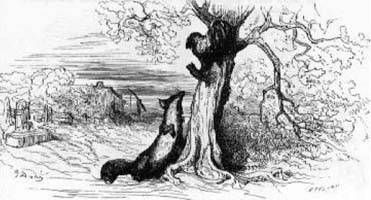 Петух и Лиса (Г. Доре)