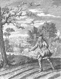Ласточка и Птички (Жан-Батист Удри)