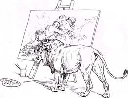 Лев, сраженный Человеком (Вимар)