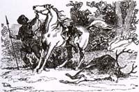 Мстительный Конь и Олень (К. Жирарде)