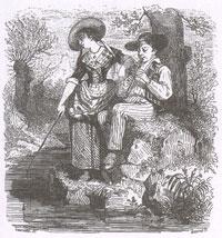 Рыбы и Пастух с флейтой (Бушо)