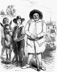 Мельник, его Сын и Осел (Гранвиль)