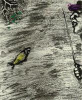 Иллюстрация к басне Рыбак и Рыбка