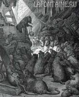 Иллюстрация к басне Совет Мышей