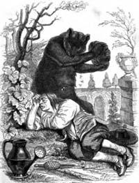 Пустынник и Медведь (Гранвиль)