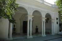Портик главного входа Ливадийского дворца