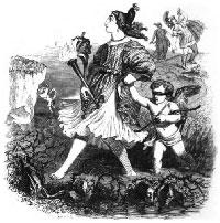 Амур и Безумие (Гранвиль)