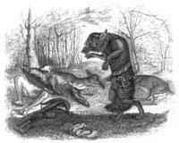 Волк и Охотник (Гранвиль)