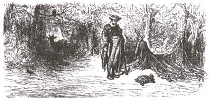 Ворон, Газель, Черепаха и Крыса (Г. Доре)