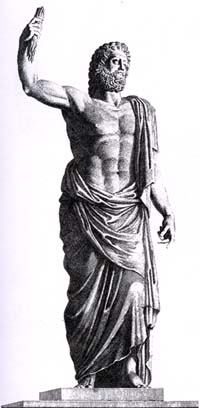 Зевс (Юпитер). Античная статуя.
