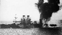Чесма - исключенное судно 4 под обстрелом с линейного корабля Иоанн Златоуст 1912 год