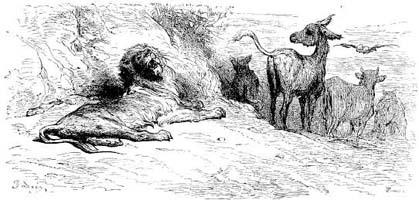 Лев состарившийся (Г. Доре)